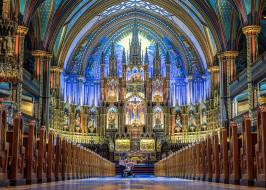 notre-dame basilica - montreal, интерьер, убранство,  роспись храма, храм
