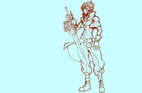 обои для рабочего стола 2000x1310 аниме, final fantasy, парень, меч