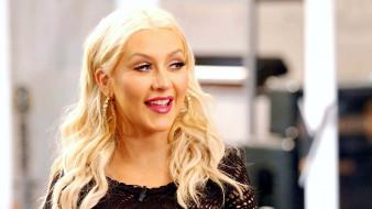 блондинка, улыбка, серьги, певица, Кристина Агилера