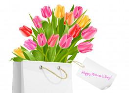 праздничные, международный женский день - 8 марта, тюльпаны