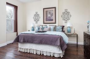 интерьер, спальня, дизайн, кровать, декор