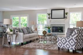 интерьер, гостиная, декор, дизайн, диван, камин
