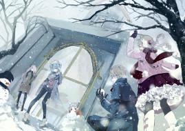 tian tian meng wuyu, аниме, подростки, зима