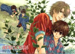 аниме, super lovers, больше, чем, возлюбленные, парни