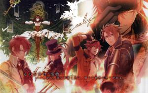 аниме, code realize, парни, art, visual, novel, miko, ключ, взгляд, перчатки, пистолет, цилиндр