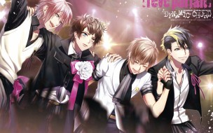 аниме, dynamic chord, art, ryou, fujiwara, dynamic, chord, visual, novel, roon, kashii, aki, kuon, tsukinohara, tsugumi, momose, парни, радость, костюм, сцена, бант