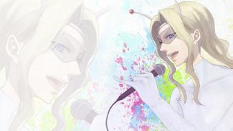 аниме, level e, принц, парень, очки, микрофон