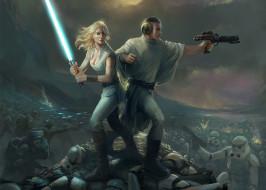 Guilano Brocani, Star Wars, Lucy Skywalker, Prince Leio, Stormtroopers, Звёздные войны, фан-арт