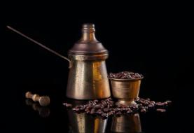 еда, кофе,  кофейные зёрна, ступка, турка, зерна