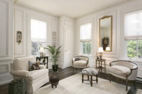 интерьер, гостиная, вазон, стиль, диван, кресло, зеркало