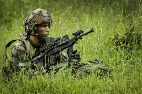 French Army, оружие, солдат