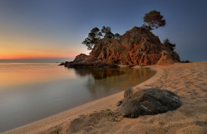 природа, побережье, рассвет