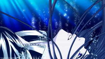 аниме,  gray-man, лучи, вода, пузырьки, волосы, парень