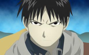 аниме, fullmetal alchemist, фон, взгляд, парень