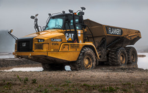 caterpillar 740, техника, строительная техника, тяжелый, грузовик