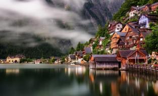 hallstatt, города, - пейзажи, горы, озеро
