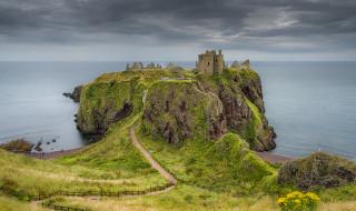 dunnottar castle, ������, - ������,  �����,  ��������, �����, ���������