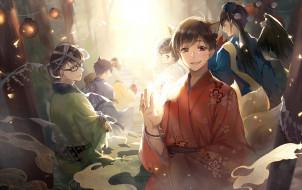 аниме, osomatsu-san, братья, парни