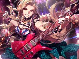 аниме, furyou michi gang road, девушка, гитара