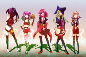 аниме, star driver, девушки