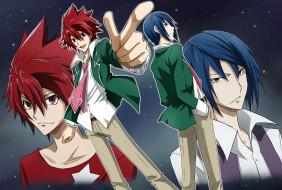 аниме, star driver, парни