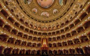 интерьер, театральные,  концертные и кинозалы, италия, сицилия, театр, массимо, беллини, катания, опера