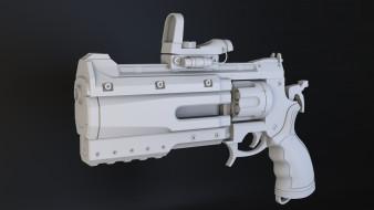 обои для рабочего стола 2880x1620 оружие, 3d, пистолет