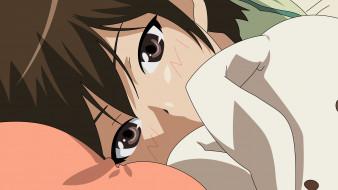 kami nomi zo shiru sekai, аниме, фон, взгляд, девушка
