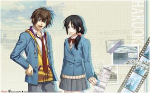 обои для рабочего стола 1920x1200 аниме, hakuouki, парень, фон, взгляд, девушка