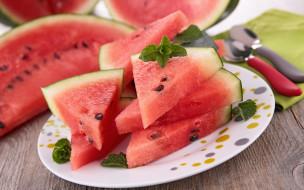 еда, арбуз, watermelons, кусочки