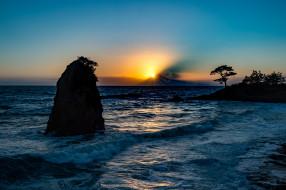 обои для рабочего стола 2048x1363 природа, восходы, закаты, пейзаж, лучи, рассвет, море