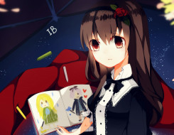 обои для рабочего стола 2044x1588 аниме, ib, девочки