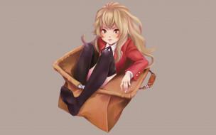 обои для рабочего стола 1920x1200 аниме, toradora, фон, взгляд, девушка