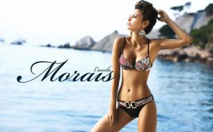 Camila Morais обои для рабочего стола 1735x1080 Camila Morais, девушки, купальник, серьги