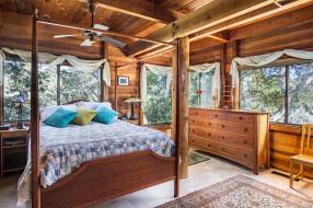 интерьер, спальня, дерево, подушки, кровать, дизайн, комод