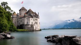 chillon castle switzerland, ������, ����� ���������, �����, ����