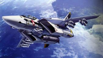аниме, macross frontier, самолёт