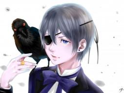 аниме, kuroshitsuji, ciel, phantomhive