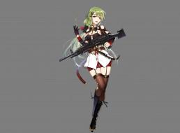 девушка, оружие