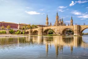 сарагоса, города, - мосты, мост, река
