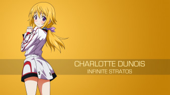 аниме, infinite stratos, фон, взгляд, девушка