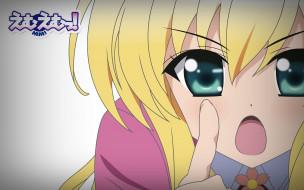аниме, mini miss, взгляд, девушка, фон