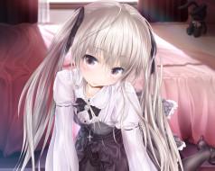 аниме, yosuga no sora, фон, взгляд, девушка