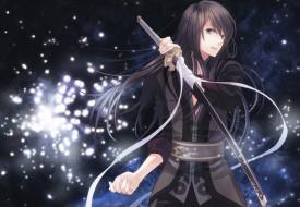 аниме, tales of vesperia, парень, меч, катана, блики
