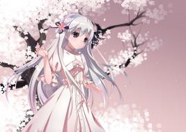 аниме, yosuga no sora, девушка, фон, взгляд