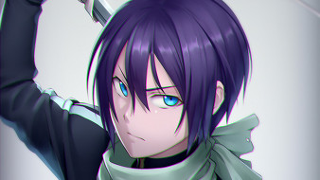 аниме, noragami, парень, взгляд, фон