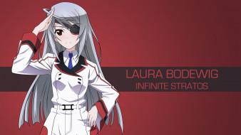 аниме, infinite stratos, девушка, фон, взгляд
