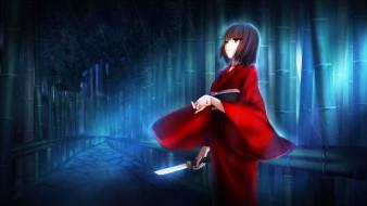 аниме, kara no kyokai, фон, взгляд, девушка