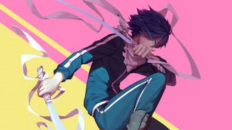 аниме, noragami, взгляд, фон, парень