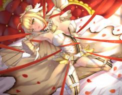 аниме, fate, stay night, saber, bride